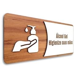 Placa De Sinalização - Uso de Álcool Gel - AC0083... - VICTARE