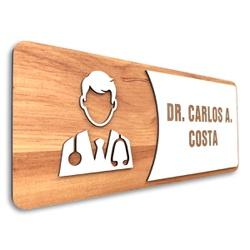 Placa De Sinalização   Dr. - MDF 30x13cm - AC0034 - VICTARE