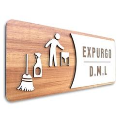 Placa De Sinalização   Expurgo - DML - MDF 30x13cm... - VICTARE