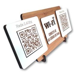 Placa De Sinalização | Uso de Wi-Fi - QR Code - D... - VICTARE
