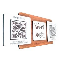 Placa De Sinalização | Uso de Wi-Fi e PIX - DV0236... - VICTARE