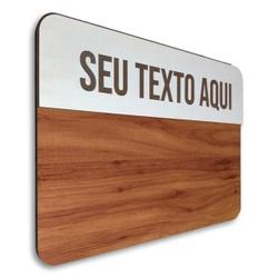 Placa De Sinalização - Personalizada | Linha Clean... - VICTARE