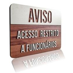 Placa De Sinalização | Aviso - MDF 30x21cm - CL000... - VICTARE