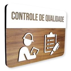 Placa De Sinalização | Controle de Qualidade - MDF... - VICTARE