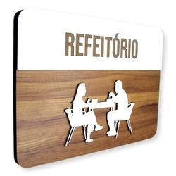 Placa De Sinalização | Refeitório - MDF 30x21cm - ... - VICTARE