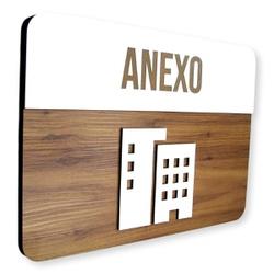 Placa De Sinalização   Anexo - MDF 30x21cm - CL000... - VICTARE