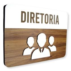 Placa De Sinalização | Diretoria - MDF 30x21cm - C... - VICTARE