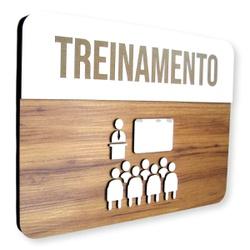Placa De Sinalização | Treinamento - MDF 30x21cm -... - VICTARE