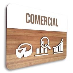 Placa De Sinalização   Comercial - MDF 30x21cm - C... - VICTARE