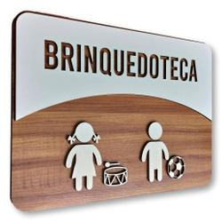 Placa De Sinalização | Brinquedoteca - MDF 30x21cm... - VICTARE