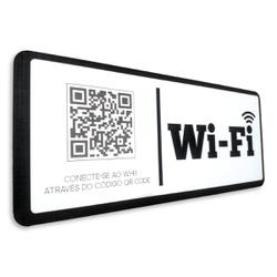 Placa De Sinalização | Uso de Wi-Fi - QR Code - FL... - VICTARE