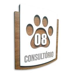 Placa De Sinalização | Consultórios - Nº08 - PE024... - VICTARE