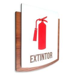Placa De Sinalização | Extintor - MDF 15x13cm - PE... - VICTARE