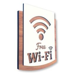 Placa De Sinalização | Wi-Fi - MDF 30x13cm - AC009... - VICTARE