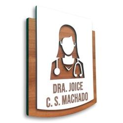 Placa De Sinalização | Dra. Medica - MDF 15x13 - P... - VICTARE