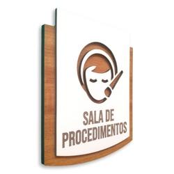 Placa De Sinalização | Sala de Procedimentos - PE0... - VICTARE