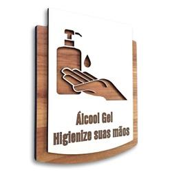 Placa De Sinalização | Uso de Gel - MDF 15x13cm - ... - VICTARE