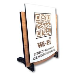 Placa De Sinalização | Uso de Wi-Fi - QR - PE008... - VICTARE