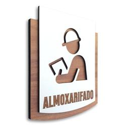 Placa De Sinalização | Almoxarifado - MDF 15x13cm ... - VICTARE