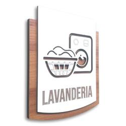 Placa De Sinalização | Lavanderia - MDF 15x13cm - ... - VICTARE
