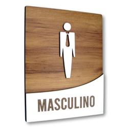 Placa De Sinalização | Masculino - MDF 18x14cm - R... - VICTARE