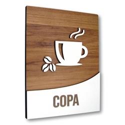 Placa De Sinalização | Copa - MDF 18x14cm - RT0031... - VICTARE