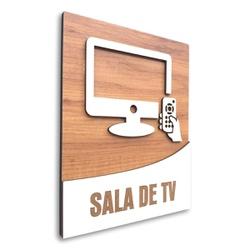 Placa De Sinalização   Sala de TV - MDF 18x14cm - ... - VICTARE