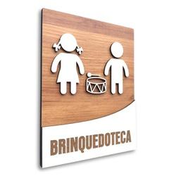 Placa De Sinalização   Brinquedoteca - MDF 18x14cm... - VICTARE