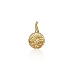 Pingente Agnus dei mini em ouro 18k - P-072 - VIU GOLD