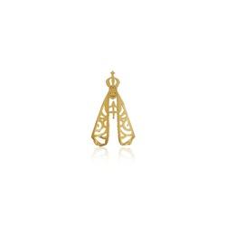 Pingente de Nossa Senhora Aparecida grande em ouro 18k - P-080 - VIU GOLD