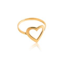 Anel em Ouro 18k amarelo de Coração - AN-150 - VIU GOLD