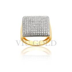 Anel em ouro 18k amarelo com Diamantes - AN-075 - VIU GOLD