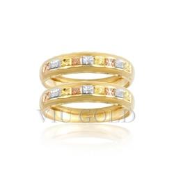 Aparador trabalhado em ouro 18k amarelo, branco e rose - AP-002 - VIU GOLD