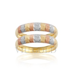 Aparador trabalhado em ouro 18k amarelo, branco e rose - AP-006 - VIU GOLD
