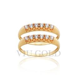Aparador em ouro 18k amarelo com Diamante sintético - AP-008 - VIU GOLD
