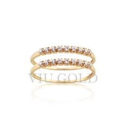 Aparador em ouro 18k amarelo com Diamante sintético - AP-011 - VIU GOLD