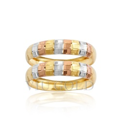 Aparador trabalhado em ouro 18k amarelo, branco e rose - AP-017 - VIU GOLD