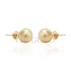 Brinco bola em ouro 18k amarelo de 7.0 mm - BI-026 - VIU GOLD