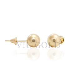 Brinco bola em ouro 18k amarelo de 6.0 mm - BI-037 - VIU GOLD