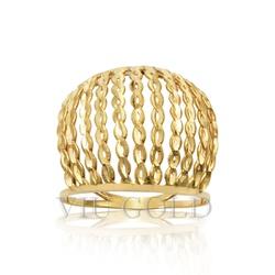 Anel aro duplo com filetes na vertical em ouro 18k amarelo - AN-038 - VIU GOLD