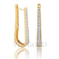 Brinco em ouro 18K amarelo e branco com Diamantes - B-075 - VIU GOLD