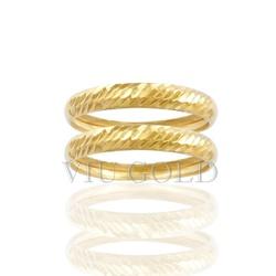 Aparador trabalhado na diagonal em ouro 18K amarelo - AP-020 - VIU GOLD