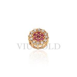 Pingente Ponto de luz em ouro 18k amarelo com Diamantes sintéticos e R... - VIU GOLD