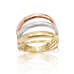 Anel em ouro 18k amarelo, branco, e rose - AN-010 - VIU GOLD
