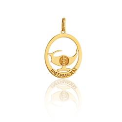 Pingente em Ouro 18K de Formatura Enfermagem - PF-016 - VIU GOLD