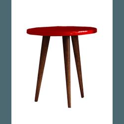 Mesa Lateral Patrimar Legs Baixa Vermelha