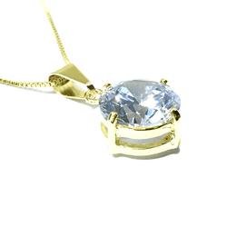 Gargantilha Ponto de Luz Impéria Semijoia Banho de Ouro 18K Zircônia