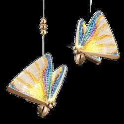Pendente borboleta Colorido - Pd btf cl - ALAMIN IMPORTAÇÃO EXPORAÇÃO LTDA