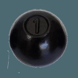 Bola De Arremesso Pintada 1kg - 619 - ANILHASDEFERRO