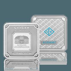 Silberbar Geiger - 10 gr. 999 quadratisch - ARGENTUM HEDGE